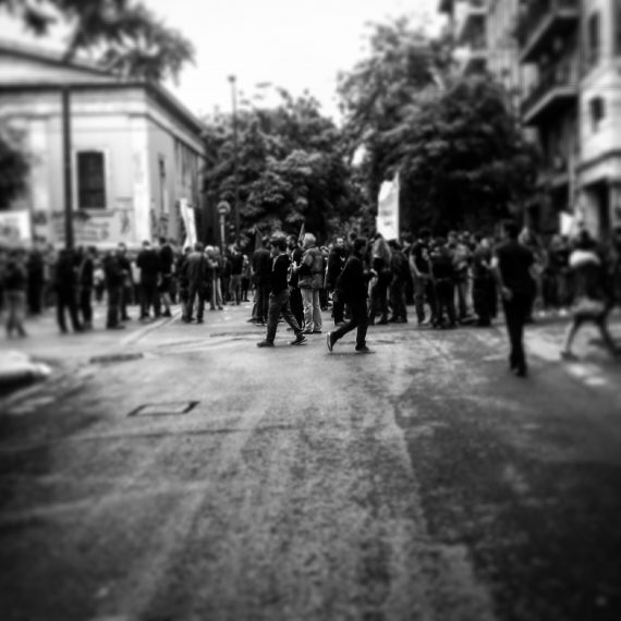 protesters (center of athens)