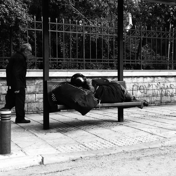 homeless (center of athens)